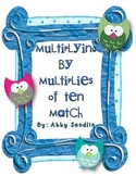 Multiplying Single Digits by Multiples of Ten Match Up! {3.NBT.3}