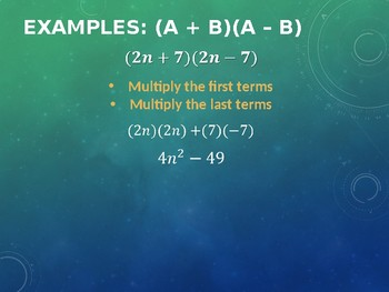Multiplying Special Products Polynomials Notes