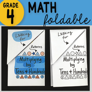 Doodle Notes - Multiplying Tens and Hundreds Math Interactive Notebook Foldable