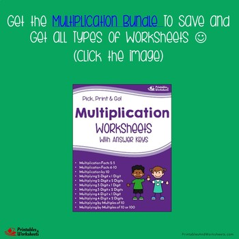 Multiplying Three Digit By One Digit, Multiplication Worksheets With Answer Keys