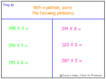 Multiplying Three-Digit Numbers by One-Digit Power Point