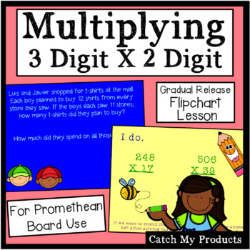 Multiplying Three Digit Numbers by Two Digit Numbers for Promethean Board