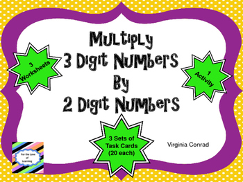 Multiplying Three Digit Numbers by a Two Digit Number