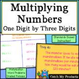 Multiplying Three Digit by One for PROMETHEAN Board