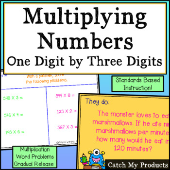 Multiplying Three-Digit by One-Digit Numbers for Promethean Board