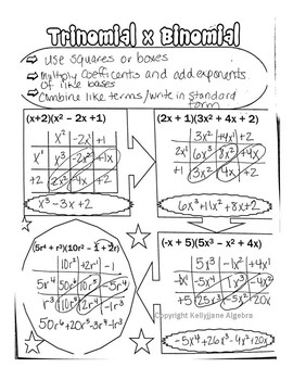 Multiplying Trinomial and Binomial