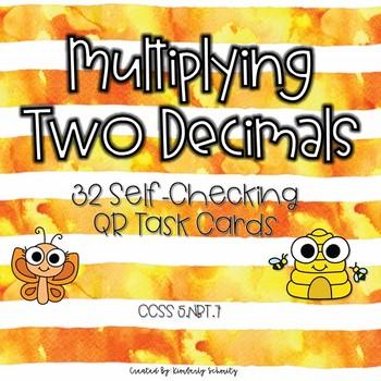 Multiplying Two Decimals QR Task Cards