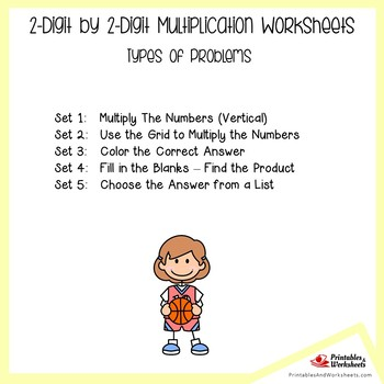 Two Digit By Two Digits Multiplication Worksheets for Practice