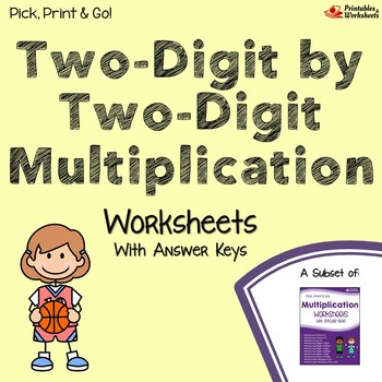 Multiplying Double Digit Numbers Worksheets For Assessment Or Practice