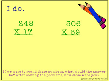 Multiplying Two Digit Numbers by Three Digit Numbers