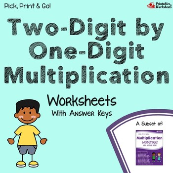 Multiplying Two Digit by One Digit, Multiplication Worksheets With Answer Keys