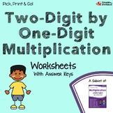 2 Digit by 1 Digit Multiplication Worksheets For Practice, Assessment