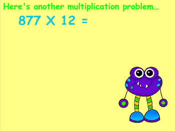 Multiplying Two Digit by Three Digit Numbers Power Point