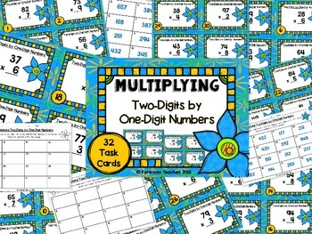 Multiplying Two-Digits By One Digit Numbers Task Cards