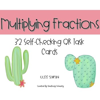 Multiplying Two Fractions QR Task Cards