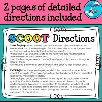 Multiplying Two Fractions SCOOT Game