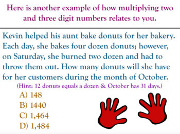 Multiplying Two Digits by Three Digits Whole Numbers for PROMETHEAN Board