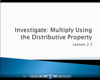 Multiplying Using the Distributive Property - Grade 4 Go Math Lesson 2.5 (Video)