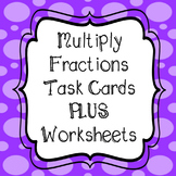 Multiplying Whole Numbers and Fractions Task Cards and NO