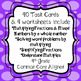 Multiplying Whole Numbers and Fractions Task Cards and NO PREP Worksheets