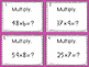 Multiplying Whole Numbers (5.NBT.5) Task Cards AND Jeopardy Style Game Show