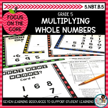Multiplying Whole Numbers: Math Learning Bundle