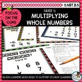 Multiplying Whole Numbers- Math Center Activity and Printa