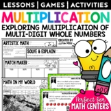 Multiplying Whole Numbers Math Test Prep Task Cards