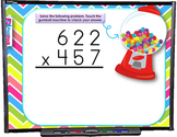 Multiplying Whole Numbers SMART BOARD Game (CSS 5.NBT.B.5)