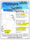 Multiplying Whole Numbers Without Regrouping {1 digit factors}