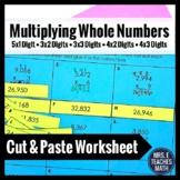Multiplying Whole Numbers Worksheet Activity 5.NBT.5