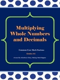 Multiplying Whole Numbers and Decimal Fractions Stations