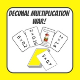 Multiplying Whole Numbers by Decimals War Card Game
