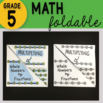 Multiplying Whole Numbers by Fractions Math Foldable