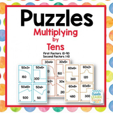 Multiply Whole Numbers  by Multiples of Ten - Puzzles