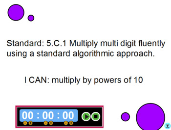 Multiplying Whole Numbers by Powers of 10