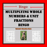 Multiplying Whole Numbers by Unit Fractions Bingo (30 pre-made boards!)