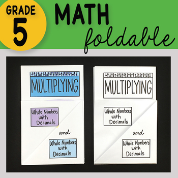 Math Doodle - Multiplying Whole Numbers w/ Decimals by Whole Num w/ Decimals