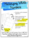 Multiplying Whole Numbers with Regrouping {2 Digit Factors}