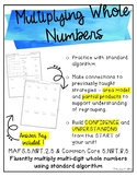 Multiplying Whole Numbers with Regrouping {1 digit factors}