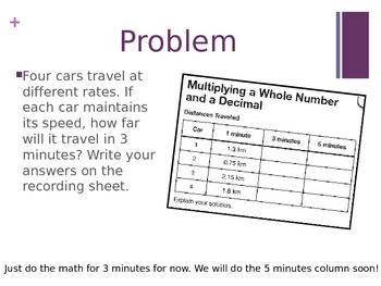 Multiplying a Decimal by a Whole Number (5th Grade EnVision Math Power Point)