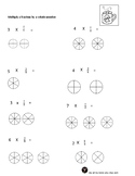 Multiplying a Fraction by A Whole Number Worksheets with V