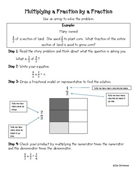 Multiplying a Fraction by a Fraction Using an Array Step by Step Guide