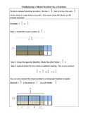 Multiplying a Mixed Number by a Fraction with Models