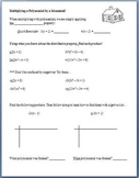 Multiplying a Polynomial by a Monomial (Guided Notes & Algebra Tile Activity)