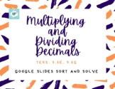 Multiplying and Dividing Decimal Word Problems with Google Slides