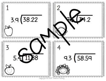 Multiplying and Dividing Decimal Task Cards