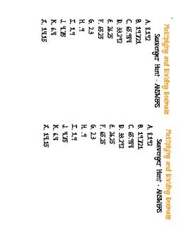 Multiplying and Dividing Decimals