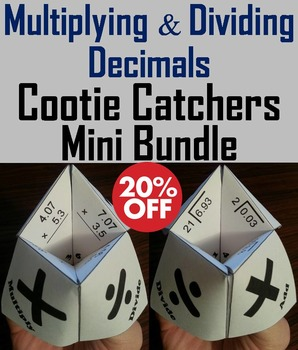 Multiplying and Dividing Decimals Practice Activities Bundle: 4th 5th 6th Grade