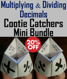 Multiplying and Dividing Decimals Activities Bundle: 4th 5th 6th Grade